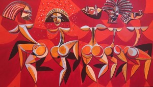 HAVANA CARNIVAL  I  |  Acrylic on canvas  |  23 x 40  |  25 x 42 Framed  |  $2800