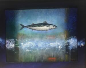 HOLY MACKERAL #32  |  9 x 12  |  Mackeral Ash, Oil on panel  |  11.5 x 14 Framed  |  $1000