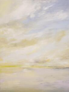 Flight Level 310 (31,000ft)     Oil and cold wax on canvas     30 x 24      31 x 25 Framed     $2350