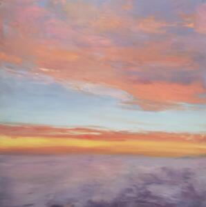 Flight Level 340 (34,000ft)     Oil and cold wax on panel     30 x 30     $2850