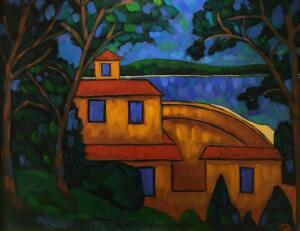 LAKE VIEW     Oil on canvas     26 x 32     31.5 x 37.5 Framed     $2900