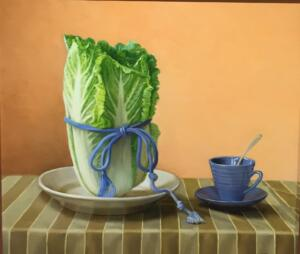 CABBAGE CUP  | 16 x 18 |  Oil on Linen | $4000