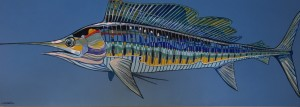 MARLIN II  |  Acrylic on canvas  |  72 x 26  |    $3200