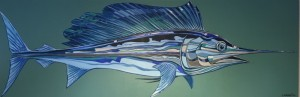 MARLIN III   |  Acrylic on canvas  |  72 x 24  |    $3200