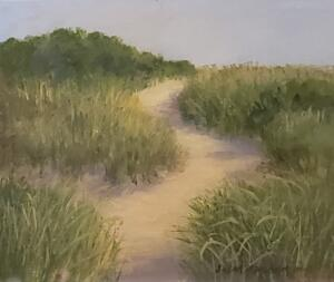 Beach Path in May     Oil on panel     8 x 10     12 x 14 Framed     $700