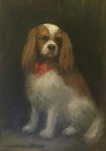 BLENHEIM CAVALIER KING CHARLES SPANIEL  |  Oil on board  |  7 x 5  |  11.5 x 9.5 Framed  |  $400