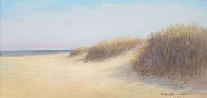 Dunes in Winter     Oil on canvas     10 x 20     11 x 21 Framed    $950