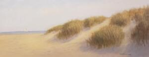 Dunescape     Oil on canvas     16 x 40    17 x 41 Framed     $1900