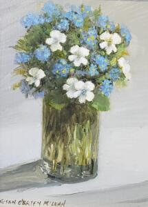 Forget Me Nots     Oil on board     8 x 6     12 x 10 Framed     $450
