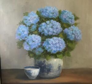 Hydrangea Profusion     Oil on canvas     24 x 24     25 x 25 Framed     $2400