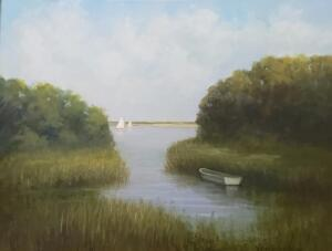 Secret Cove     Oil on canvas     18 x 24     24 x 30 Framed     $2400