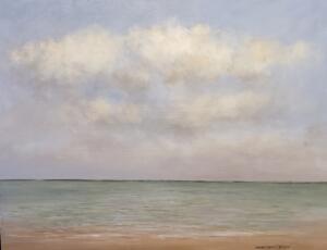 THE CALM SEA     Oil on canvas     18 x 24     19.5 x 25.5 Framed     $2200