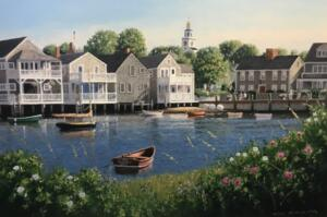 NANTUCKET TWILIGHT  |    Oil on canvas  |    24 x 36  |    31.5 x 43.5  Framed   |  $3800