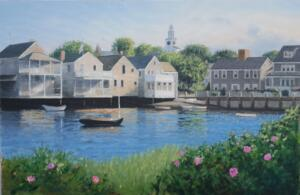 NANTUCKET WATERFRONT   |   Oil on canvas   |   24 x 36   |   31.5 x 43.5  Framed   |   $3800