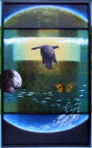 NATURAL HISTORY  |   42.5 x 25  |  Oil on panel  |  44 x 26.5  Framed  |  $1800