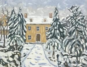 NEW ENGLAND SNOWFALL  |  11 x 14  |  Oil on canvas  |  16 x 19 Framed  |   $875