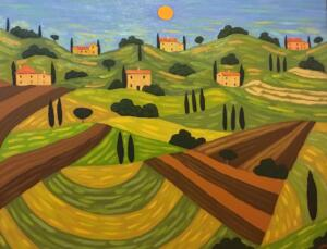 NOON IN TUSCANY  |  24 x 30  |  Oil on canvas  |   28.5 x 34.5 Framed  |   $2900