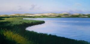 PILGRIM LAKE, TRURO  |  Oil on canvas   |  24 x 48   |  $4200