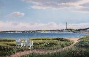 PROVINCETOWN MONUMENT  |   Oil on canvas  |   24 x 36   |  31.5 x 43.5 Framed  |   $3800