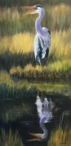 REFLECTIVE CALL  |  Oil on canvas  |  30 x 15  |  31 x 16 Framed  |  $1600