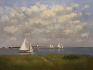 SAILING IN THE BAY   Oil on canvas    36 x 46   $3500