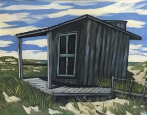 SHACK ON THE BEACH  |  24 x 30  |  Oil on canvas  |  29 x 35 Framed  |  $2600
