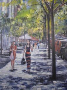 SPRINGTIME IN THE CITY  | Oil on canvas  | 40 x 30  |  $1600