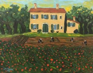 SPRING GARDENING   |  11 x 14  |  Oil on canvas  | 16 x 19 Framed  |  $875