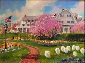 SPRING TIME CHATHAM BARS INN  |  18 x 24  |  Acrylic on canvas  |  23.5 x 29.5 Framed  |  $2100