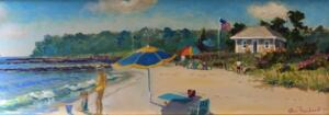STAYING COOL AT DOWSES  |  Acrylic on canvas  |  12 x 36  |  17 x 41 Framed  |  $2500