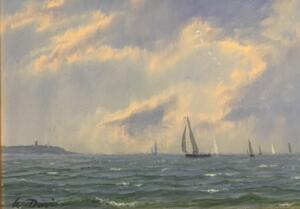 SUMMER SAIL  |  5 x 7  |  Oil on panel  |  8.75 x 10.75 Framed  |  $3800