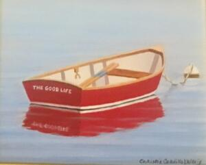 THE GOOD LIFE   |  Oil on board  |  4 x 5  |  7.5 x 8.5 Framed  |  $375