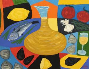THE PLATTER  |   16 x 20  |  Oil on canvas  |  21 x 25 Framed  |  $1750