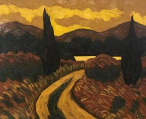TUSCANY AT DUSK  |   16 x 20  |  Oil on canvas  | 21 x 25  Framed  |  $1750
