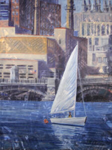 URBAN ESCAPE  | Oil on canvas  | 40 x 30  | Framed 41.25 x 31.25  |  $1800