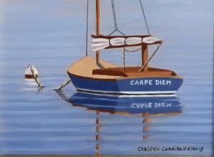 CARPE DIEM  |  Oil on board  |  4 x 5  |  7.5 x 8.5 Framed  |  $375