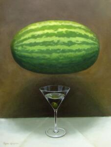 WATERMELON MARTINI |  Oil on canvas |  24 x 18 |  30 x 24 Framed |  $2400