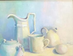 WHITE PARTY  |  Oil on canvas  |  12 x 14  |  17 x 19 Framed  |  $850