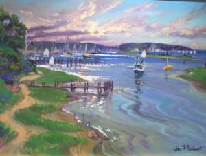 WEST BAY OSTERVILLE  |  18 X 24 | Acrylic on Canvas  |  $2000 Framed 23 x 29