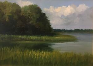 AUGUST AFTERNOON     Oil on board     9 x 12     15 x 18 Framed     $900