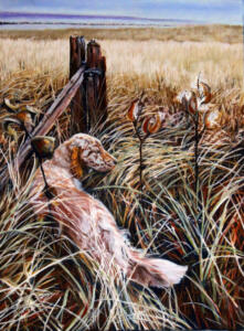 GRACE IN THE TALL GRASS |  16 x 20  | Pastel on sanded paper   | 21 x 25 Framed  |  $900