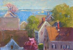 PROVINCETOWN ROOFTOPS  |  Oil on board  |  9 x 12  |  14 x 16 Framed  |  $850