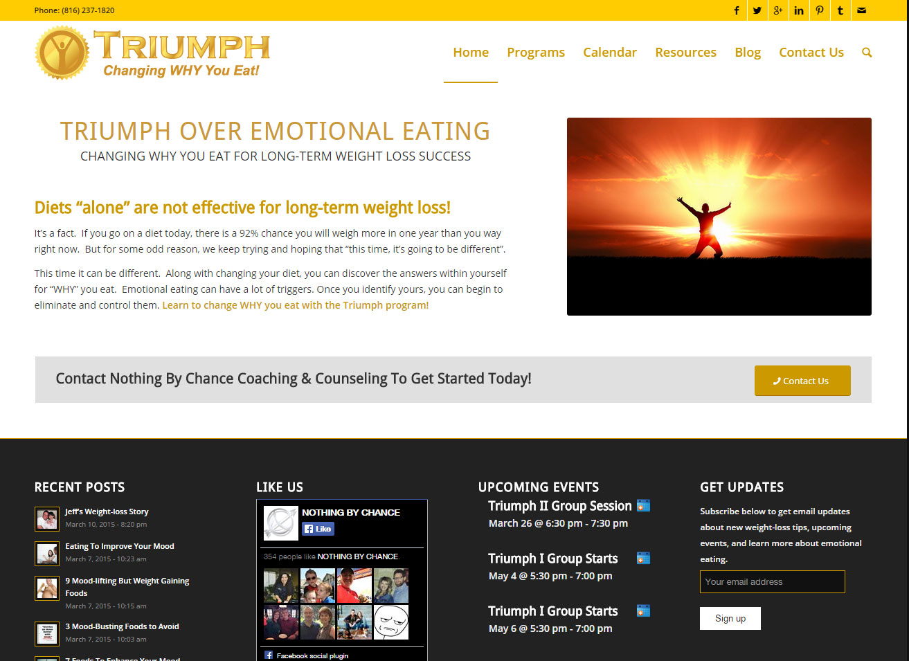 Triumph Website Launch