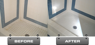 Shower before and after - Tile & Grout
