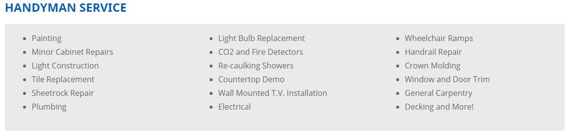 handyman service - Handyman