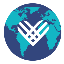 GivingTuesday logo on top of a globe