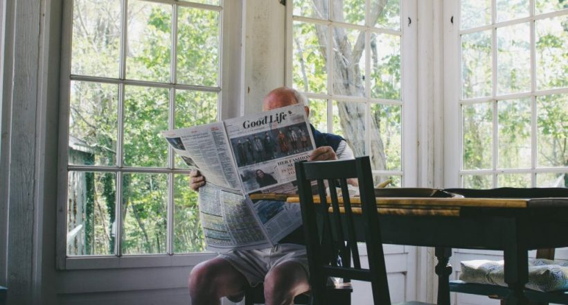 EldersHelpers-Senior-In-Home-Kitchen-Table-Reading-the-Paper