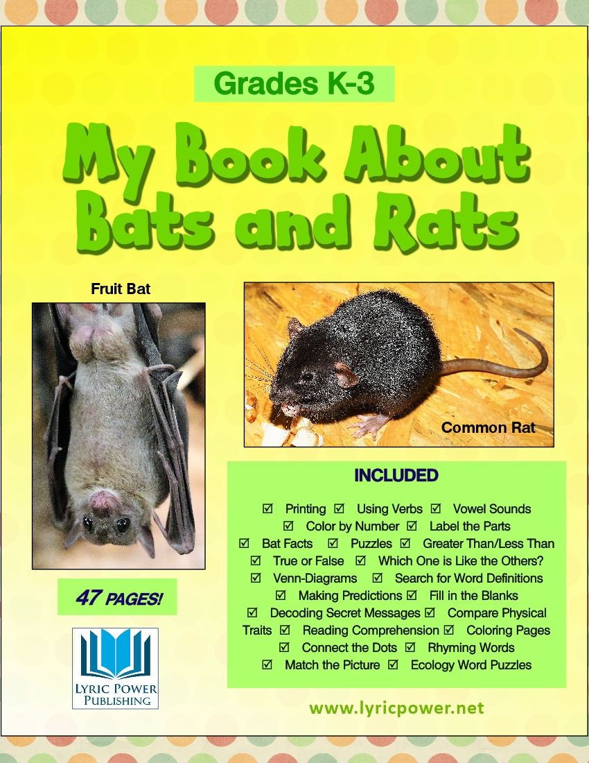 book cover book about bats and rats grades K-3