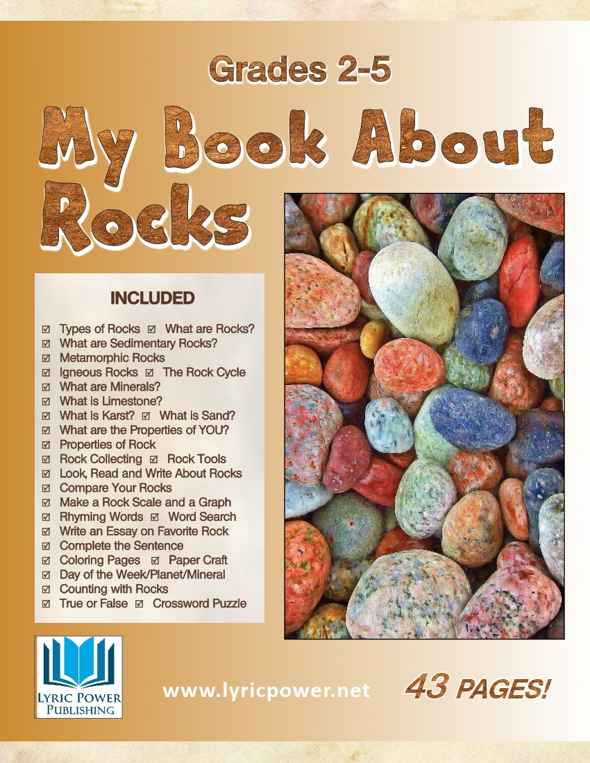 book cover my book about rocks