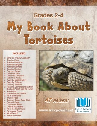 book cover book about tortoises grades 2-4